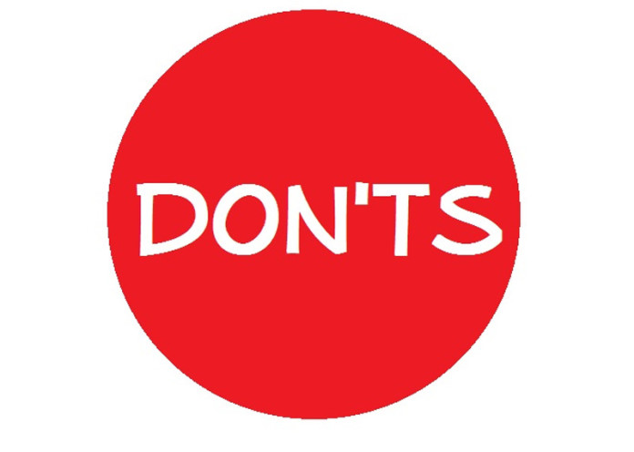 don't's