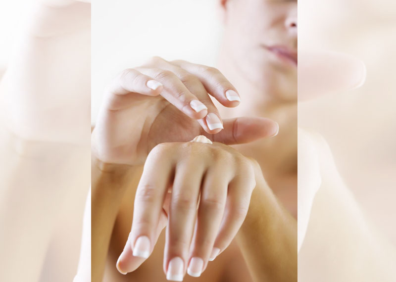 Apply hand cream or lotion