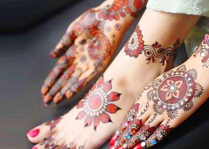 Multi Colored Mehndi Designs