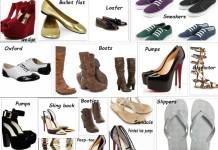 Footwear types