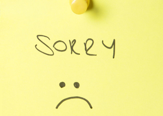 A blunt person apologizes