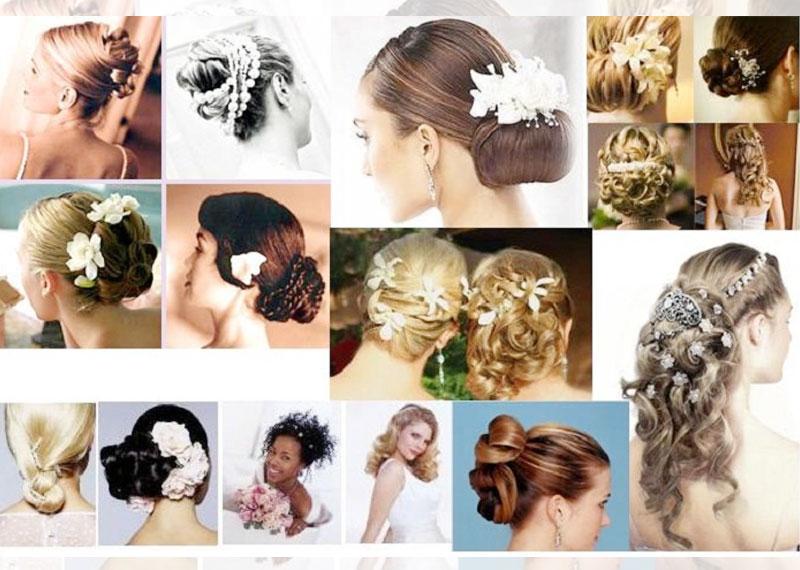 Легкие прически на свадьбу на средние волосы