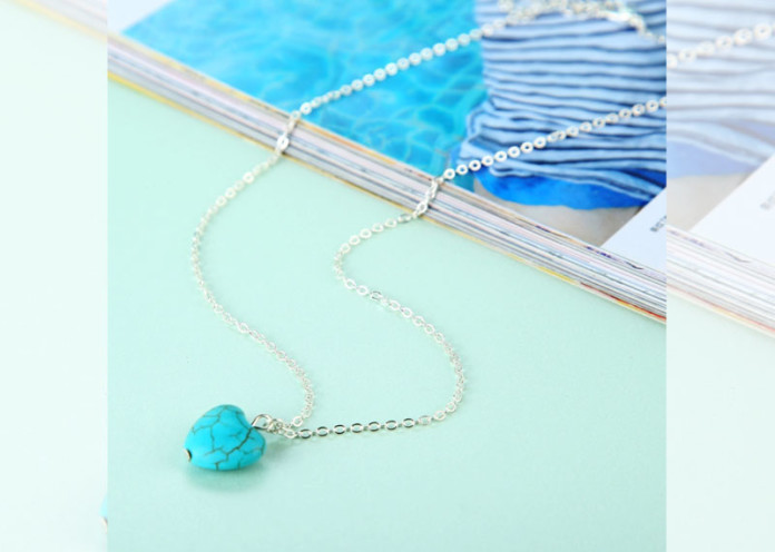 Turquoise colored accessories
