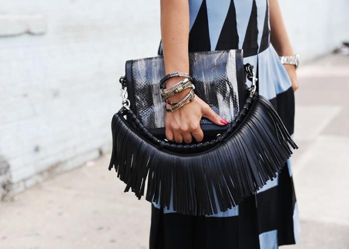 Sling fringe bags