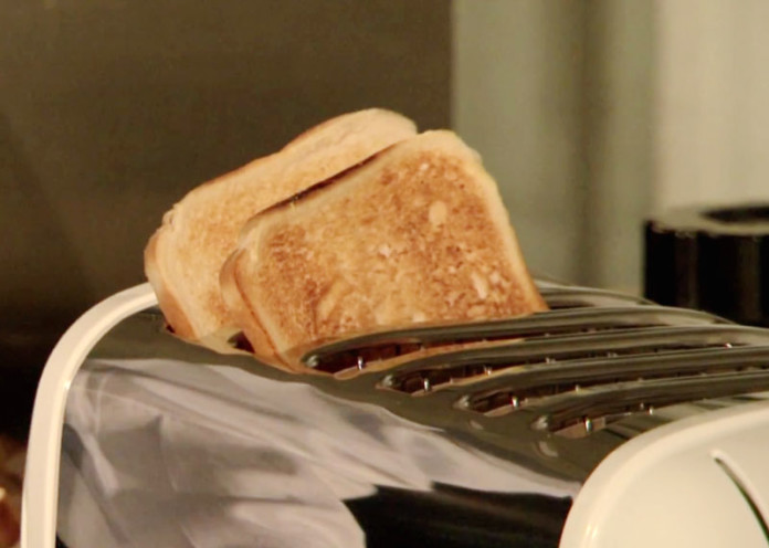 Toast bread for breakfast
