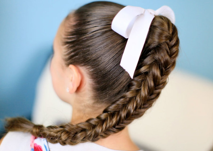 Fishtail braid hairstyles for kids