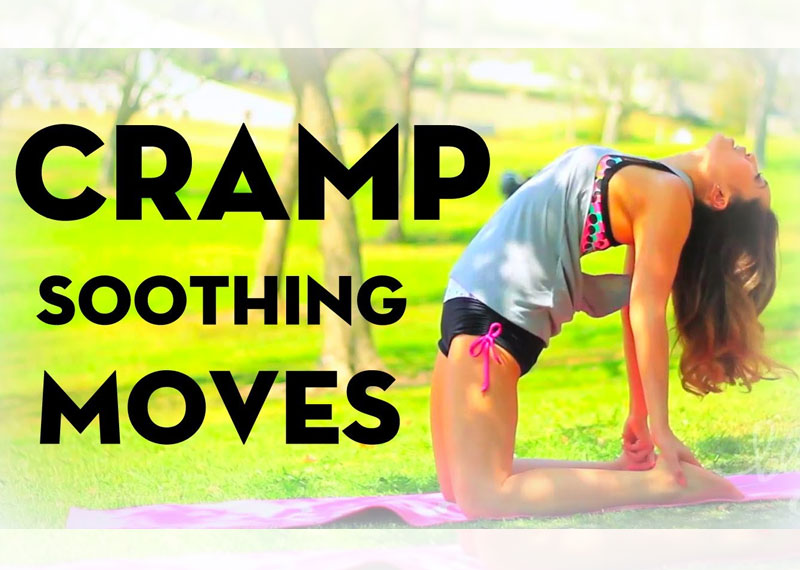 how to get rid of menstrual cramps by stretching