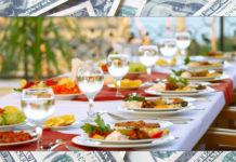 money on food