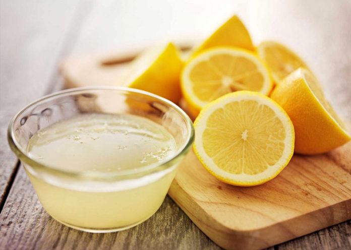 Lemon juice treatment