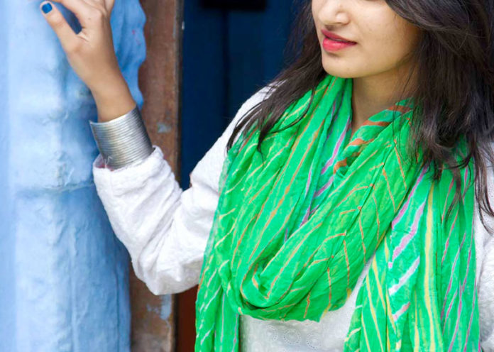 Lehriya scarves and dupattas