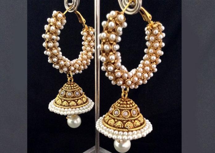Pearly Ring Jhumkas