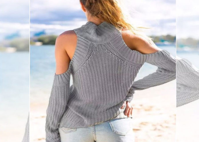 A Stylish Off- Shoulder Pullover