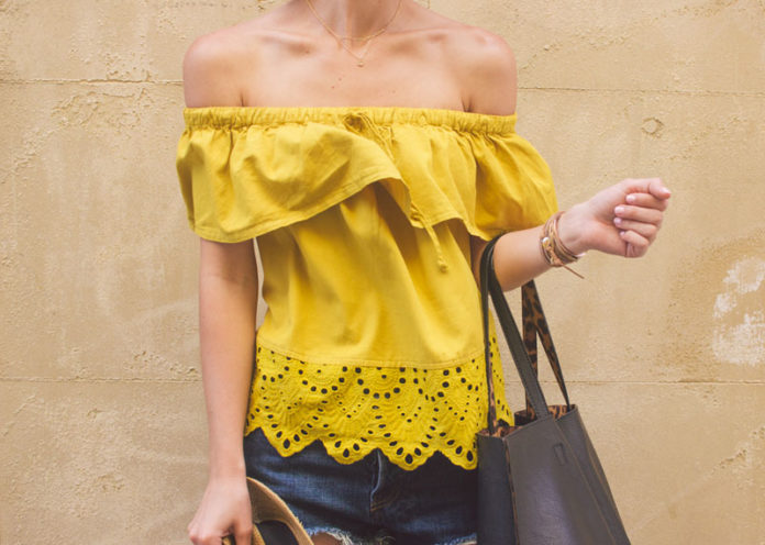 Yellow Off Shoulder