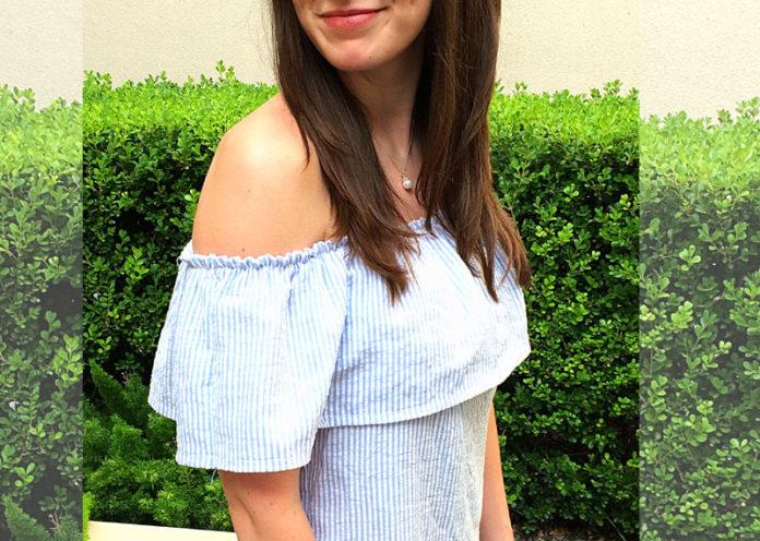 Striped Off-Shoulder Dress