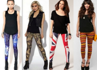 Fashionable Printed Jeggings
