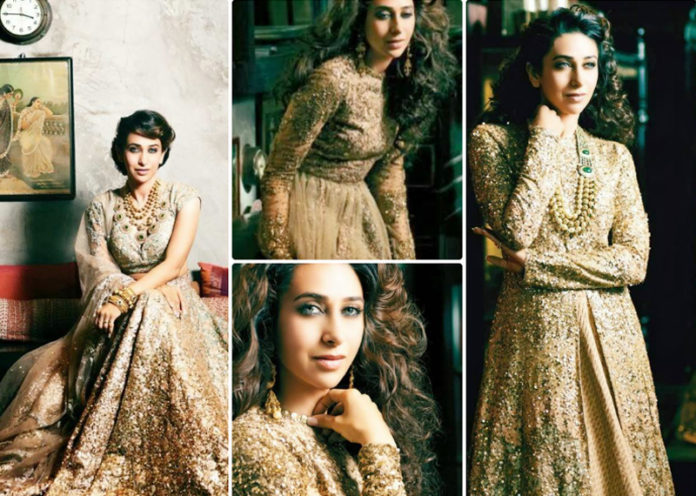 Gold Embellished Jacket Lehenga