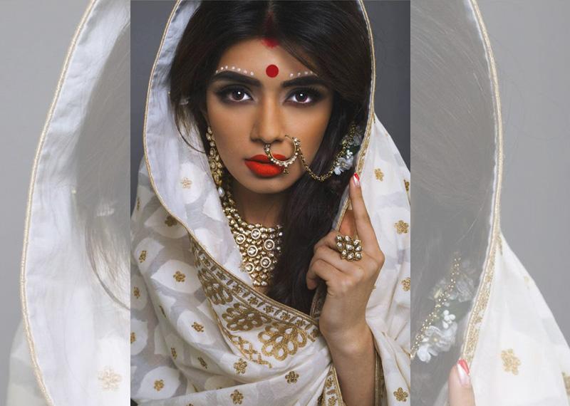White And Gold Wedding Saree