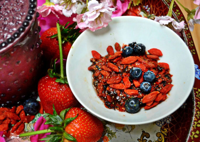 Blueberries and Gojiberries