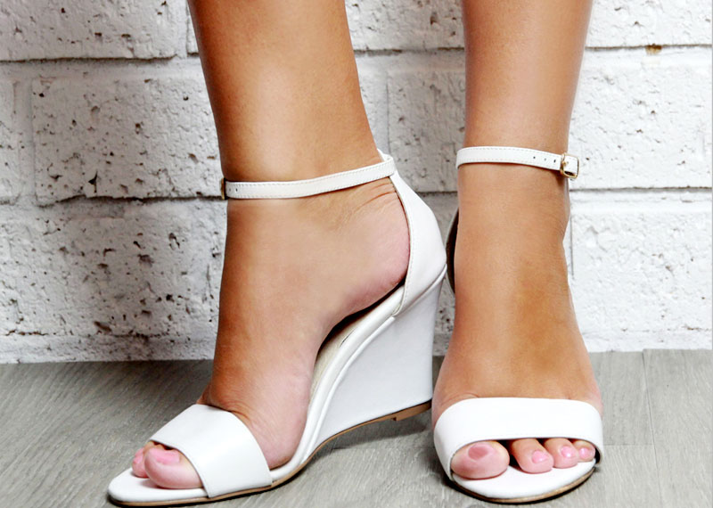 b3c2896da535e1 Wedge heels are just like flush high heels. There is minimal or no  separation from heel to the sole. You can try wedge heels in a mid length  skirt for ...