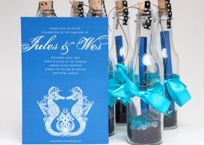 Glass Bottle Invite