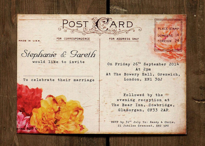 Post Card Invite
