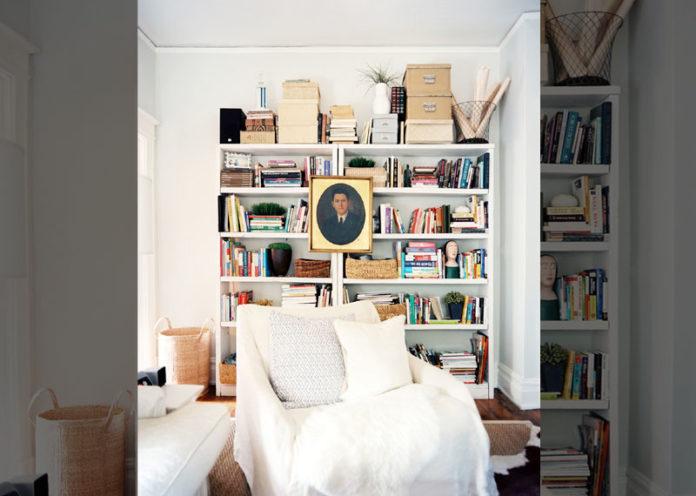 Float Art On A Bookshelf