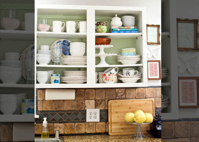 Add Pops Of Color In Open Shelves