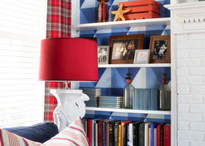 A Bright Update In A Built-In Shelves