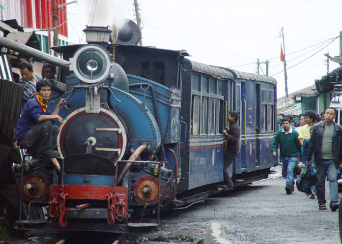 romance in a toy train in Darjeeling