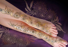 Mehndi Design For Leg