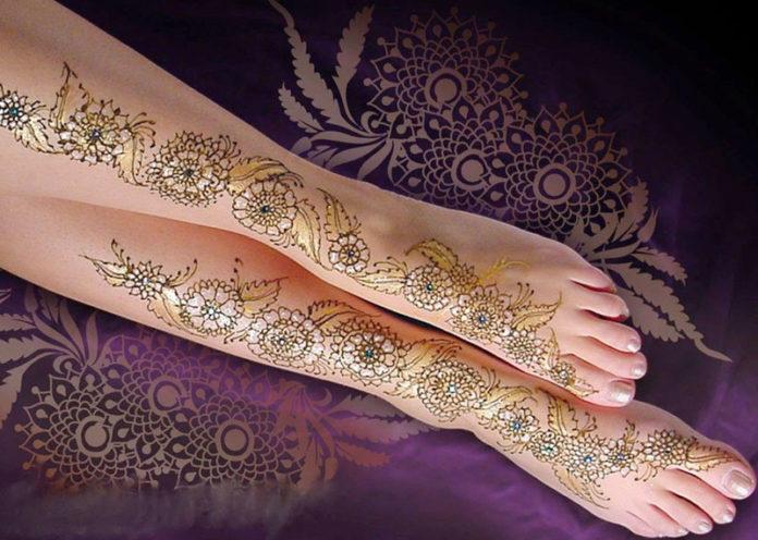 Mehndi Design For Leg