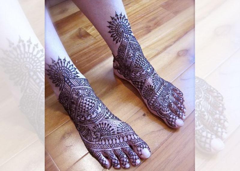 Marwari mehndi art form