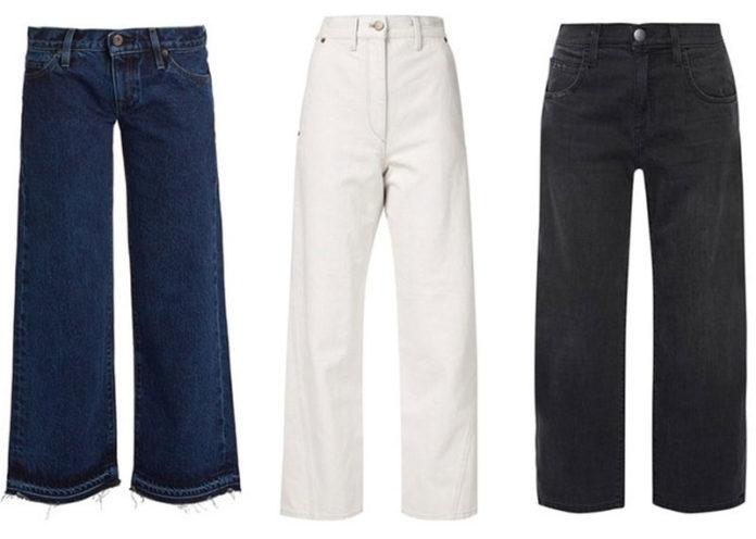 Cropped Wide-Leg Jeans