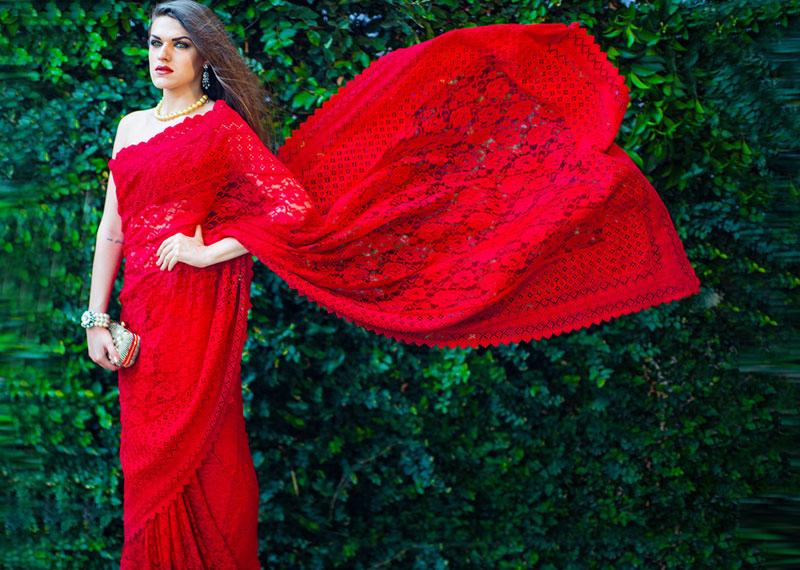 A Red Saree