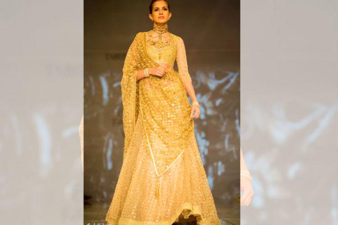 Gold Bridal Lehenga