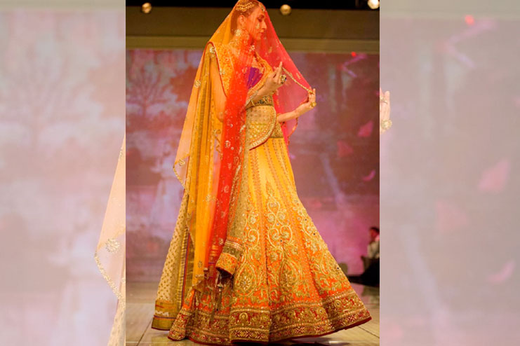 Yellow-Orange Bridal Lehenga