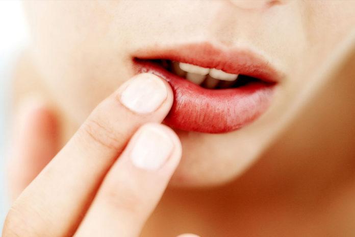 Dark red-black lips