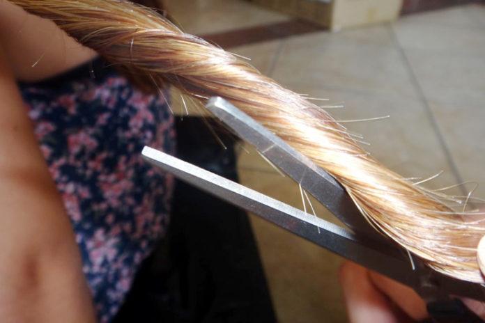 Removing split ends