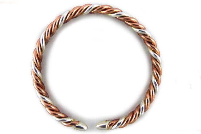 Copper and silver bangles