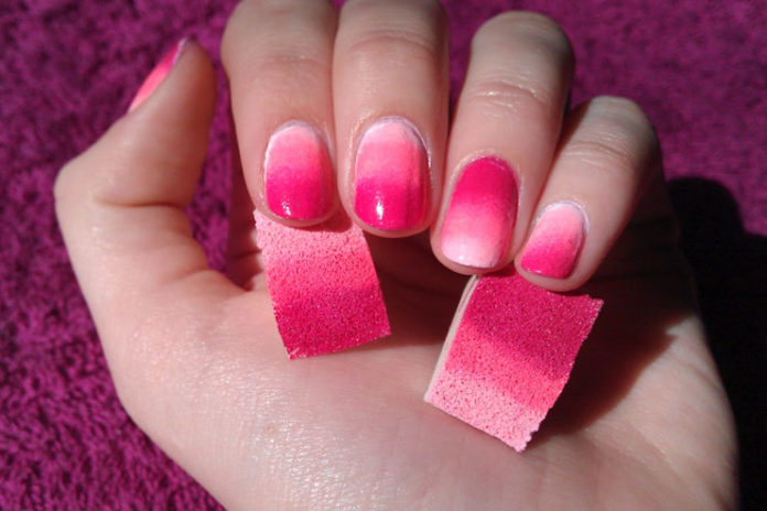 Nail Art Technique Using A Sponge For Beginners