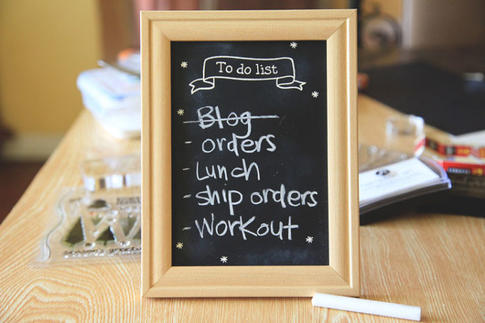 Chalk board to-do list frame
