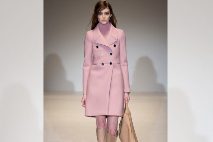 Peach trench coats