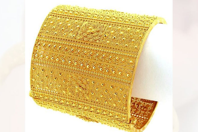 Sculptured Gold Bracelets