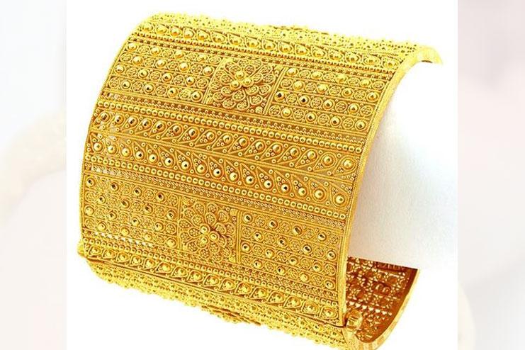 Sculptured Gold Bracelets