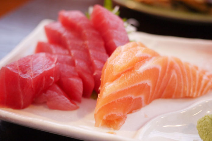 Salmon and tuna
