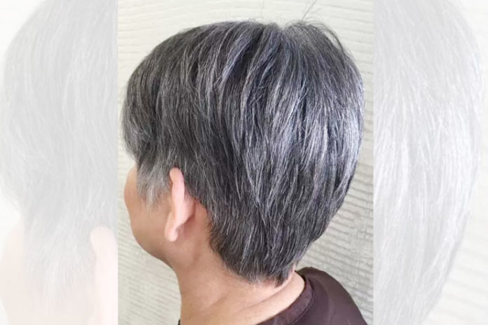 Short And Simple Gray Hair