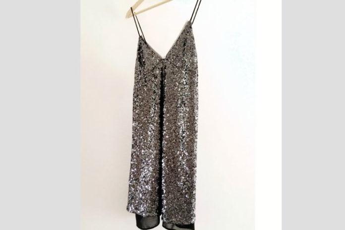 Zara Long Sequined Dress