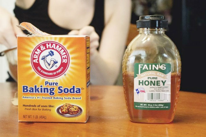 Honey and baking soda