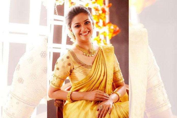 Golden Silk saree with gold blouse