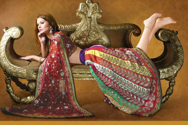 colorful bridal lehanga design